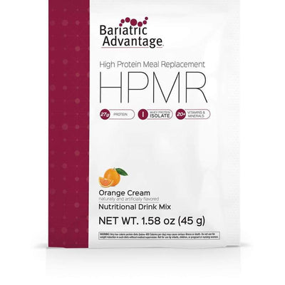 Bariatric Advantage HPMR High Protein Meal Replacement - Available in 8 Flavors! - Single Serve Packet / Orange Cream - Meal Replacements