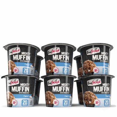 FlapJacked Mighty Muffins with Probiotics - Available in 9 Flavors! - S'mores / 12-Pack - Muffins