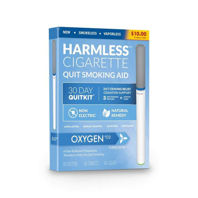 Harmless Cigarette Quit Smoking Aid - Oxygen - 30-Day Quit Kit - Smoking Cessation