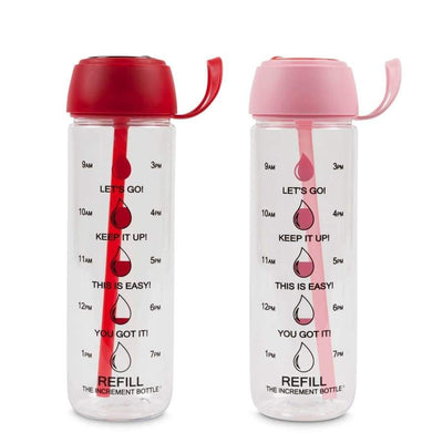 The Increment Motivational Drinking Water Bottles - Disc Flip Straw (27oz) - Shakers Mixers & Bottles
