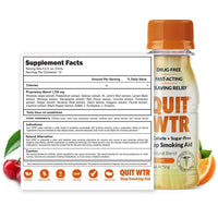 Quit WTR Nicotine-Free Stop Smoking Cessation Shot - Fruit Blend - Smoking Cessation