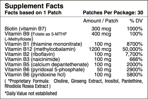 B12 Energy Plus Vitamin Patch by PatchAid