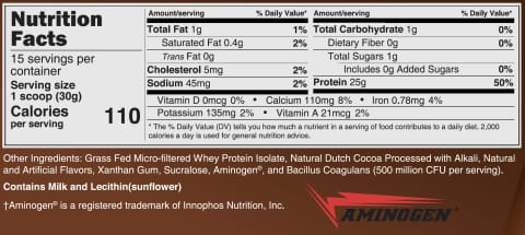 Clean Whey™ Protein (25g) by BariatricPal with Probiotics & Aminogen - Chocolate (BRAND NEW!)