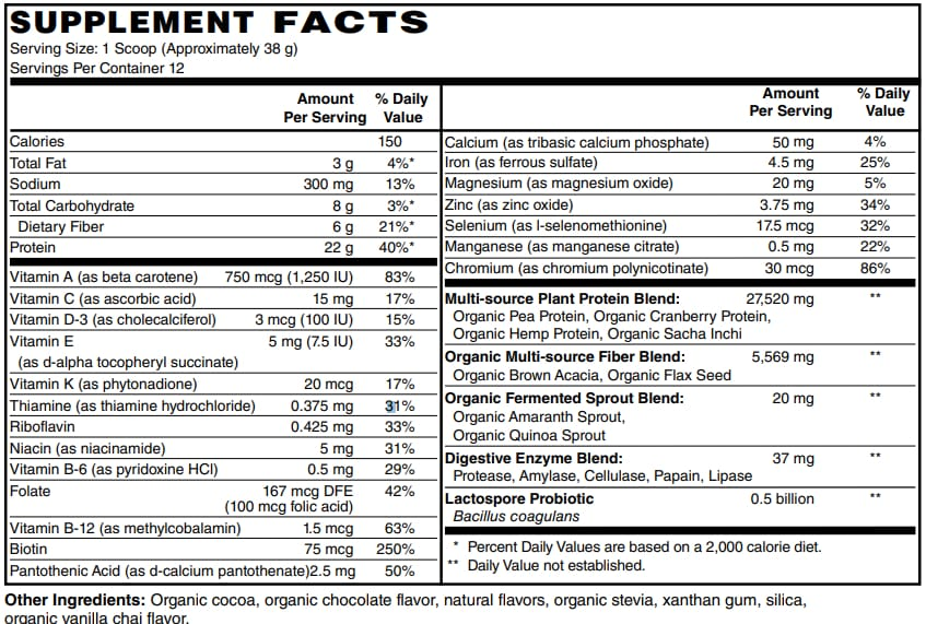 BariatricPal Organic Plant-Based Balanced Meal Replacement Complete Nutritional Shake - Chocolate