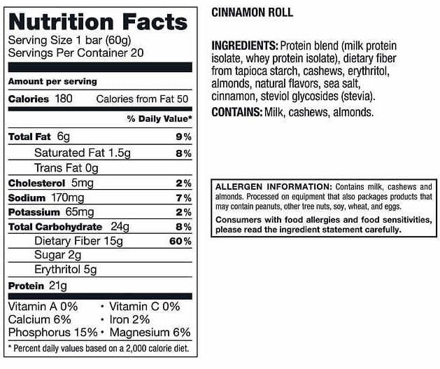 Kirkland Signature Protein Bars - Cinnamon Roll