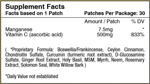 Glucosamine And Chondroitin Topical Plus Patch By Patchaid