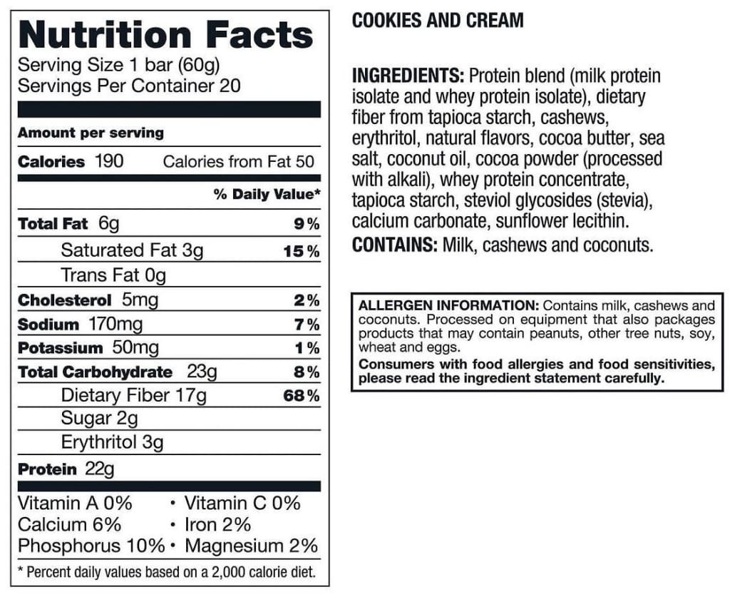 Kirkland Signature Protein Bars - Cookies And Cream