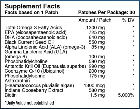 Omega-3 Vitamin Patch By Patchaid