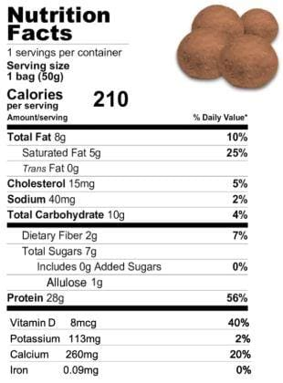 Snack House Sweet Protein Puffs (7-Serving Bag) - Chocolate