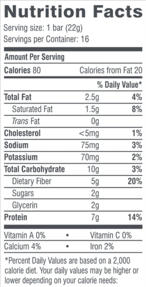 Cookie Dough Brownie Fun Size Bars Nutrition Facts