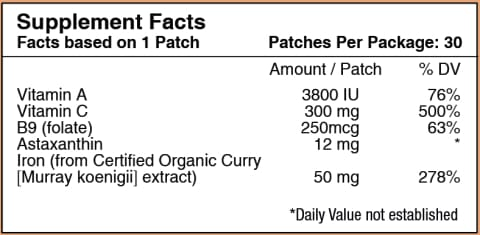 Iron Plus Vitamin Patch by PatchAid