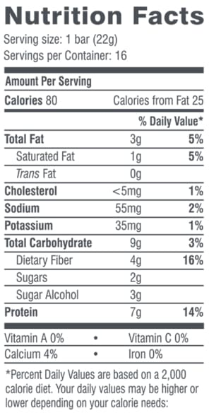 Grandma's Lemon Square Fun Size Bars Nutrition Facts