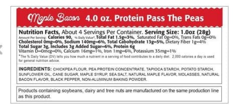 Kays Naturals Pass the Peas Chickpea Protein Snack - Maple Bacon (4oz)