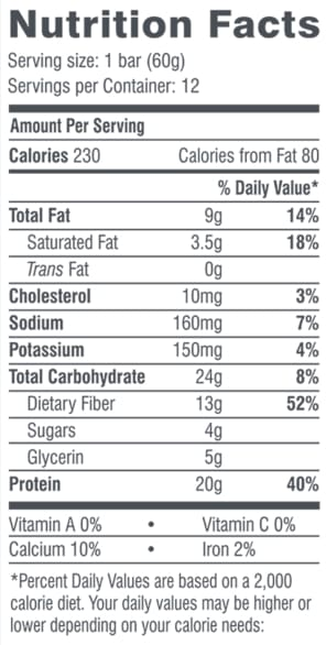 FitJoy Grain-Free Full-Size Protein Bar - Chocolate Peanut Butter