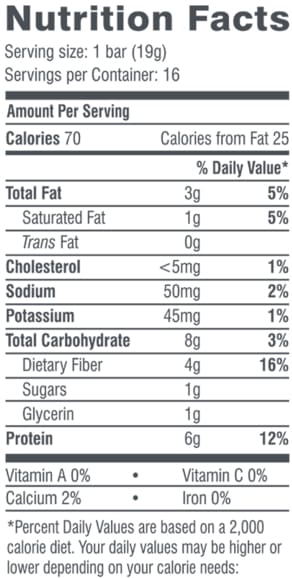 Chocolate Peanut Butter Fun Size Bars Nutrition Facts