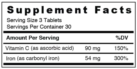 BariMelts Iron (18mg) + Vitamin C