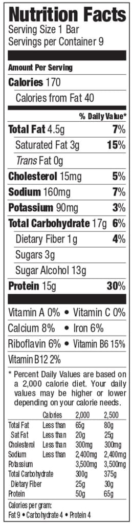 Detour Lower Sugar Snack Size Whey Protein Bar - Chocolate Chip Caramel