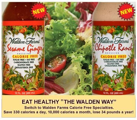 Walden Farms Calorie Free Salad Dressing - Available in 23 Flavors!