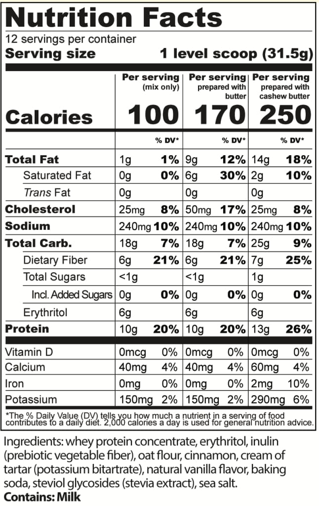 Protein Cakery Snickerdoodle Protein Cookie Mix
