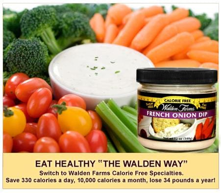 Walden Farms Calorie Free Veggie and Chip Dips - Available in 4 Flavors!