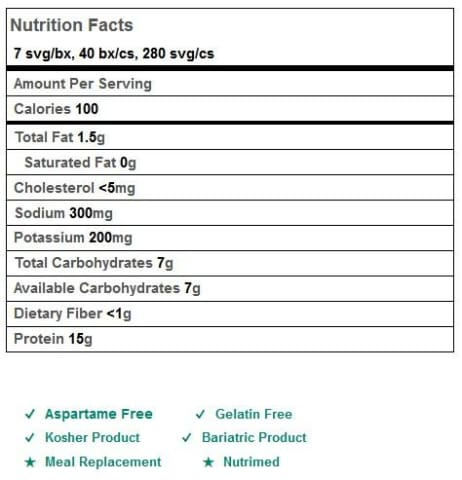 BariatricPal 15g Protein Shake or Pudding - Hazelnut Cocoa Cream (Aspartame free)