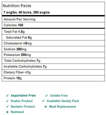 BariatricPal 15g Protein Shake or Pudding - Cocomint Cream (Aspartame Free)
