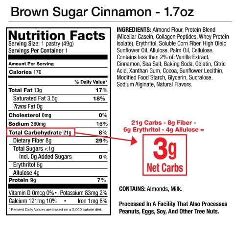 Low-Carb Toaster Tasty Pastry by Legendary Foods - Brown Sugar Cinnamon
