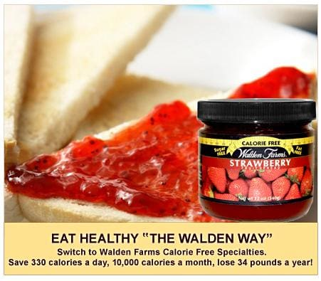 Walden Farms Calorie Free Fruit Jam & Jellies - Available in 8 Flavors!
