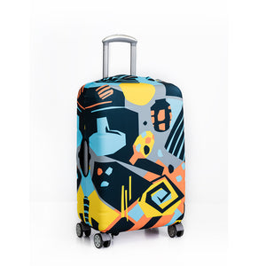 By The Pool - Reversible Luggage Cover