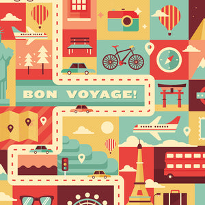 Bon Voyage - Backpack Cover