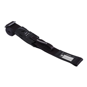 Black - Luggage Strap with Weighing Scale