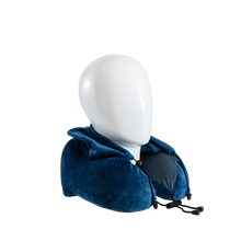 Load image into Gallery viewer, Blue Hoodie Neck Pillow (with ear plugs)