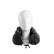 Load image into Gallery viewer, Hoodie Neck Pillow with ear plugs - Gray