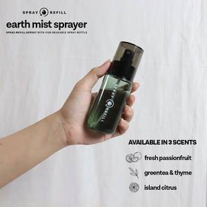 Bergamot & Peony | Earth Mist Sprayer (80ml refillable bottle)