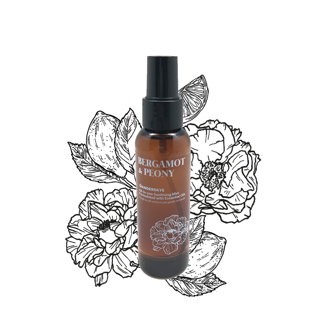 Bergamot & Peony | All-in-one Sanitizing Mist (100ml)