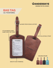 Load image into Gallery viewer, Bag Tag (Smooth Vegan Leather) - Brown