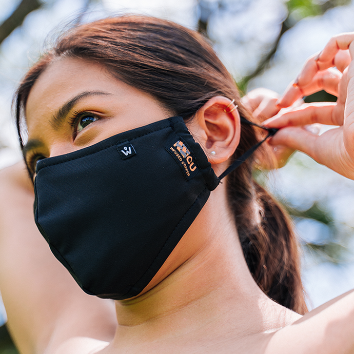 Copper Knit Mask | Black