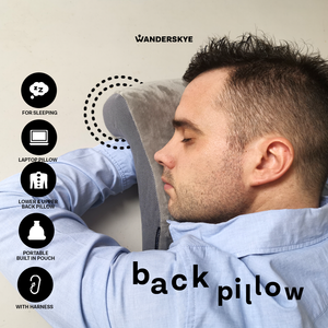 Back Pillow Premium Memory Foam (Gray)