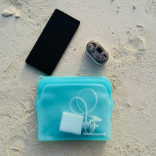 Load image into Gallery viewer, Clean Zip Pouch | Aqua