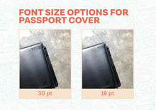 Load image into Gallery viewer, RFID Passport Cover (Black)
