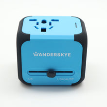 Load image into Gallery viewer, Blue Cube (Travel Adaptor)