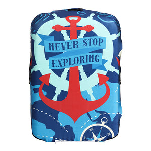 Nautical - Reversible Luggage Cover