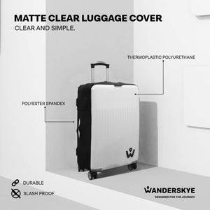 Matte Clear Luggage Cover