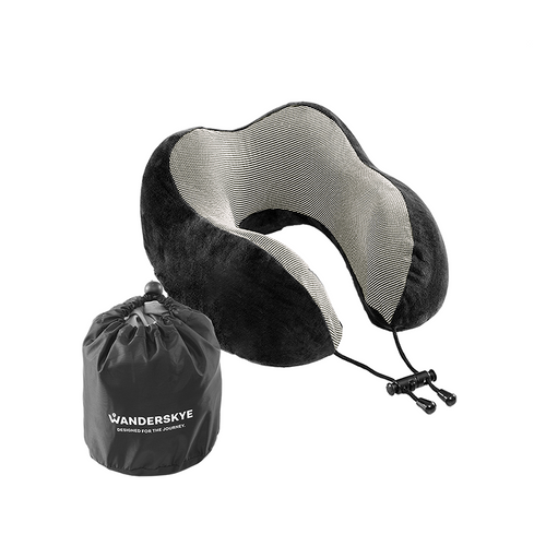 Memory Foam Neck Pillow - Black