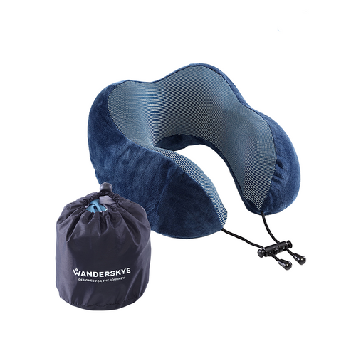 Memory Foam Neck Pillow - Blue