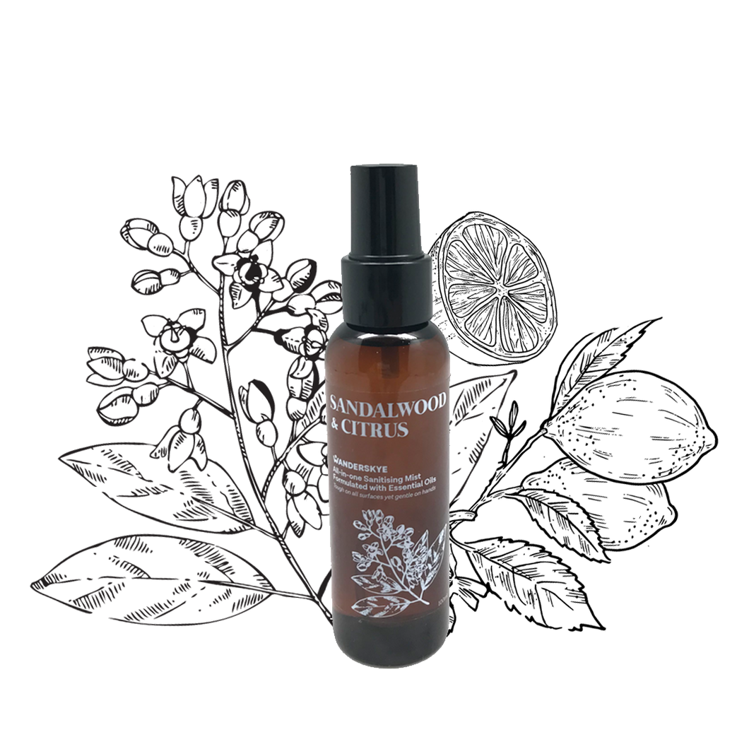 Sandalwood & Citrus | All-in-one Sanitizing Mist (100ml)