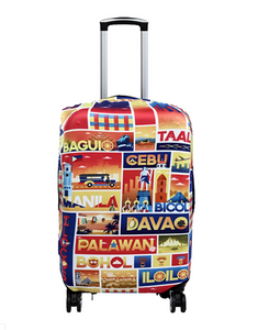 Across The Town - Reversible Luggage Cover