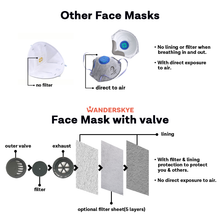 Load image into Gallery viewer, Face Mask with Filter Pocket - Where is Wanderskye (2pcs)