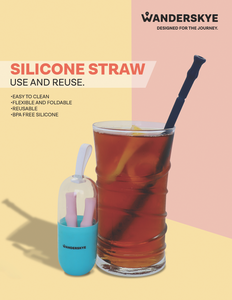 Silicone Straw (Blue)
