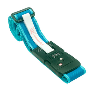 TSA Plain Blue - Luggage Strap with Weighing Scale
